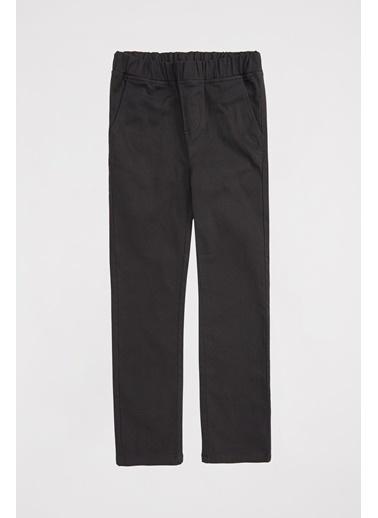 DeFacto Erkek Çocuk Beli Elastik Slim Fit Pantolon Antrasit
